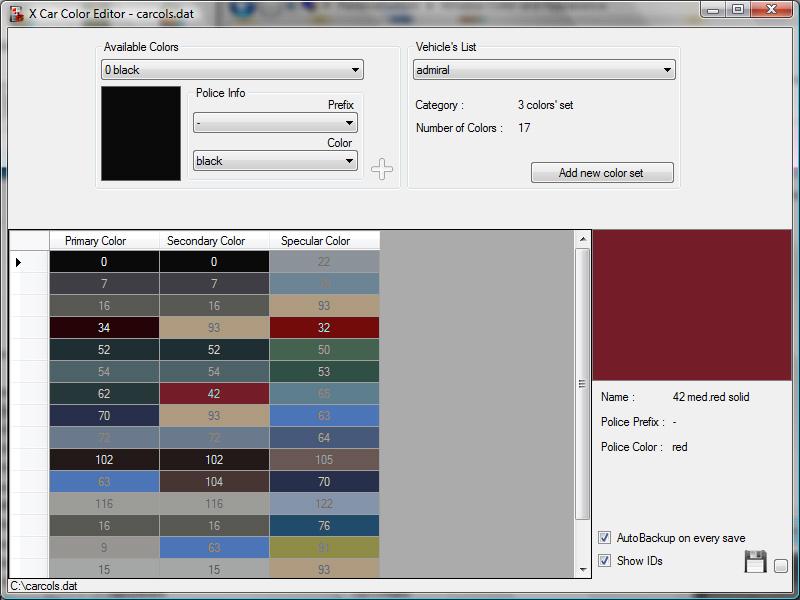 The Gta Place Car Color Editor