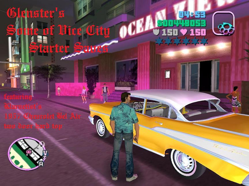 The GTA Place - Glenster's Some of Vice City Starter Saves