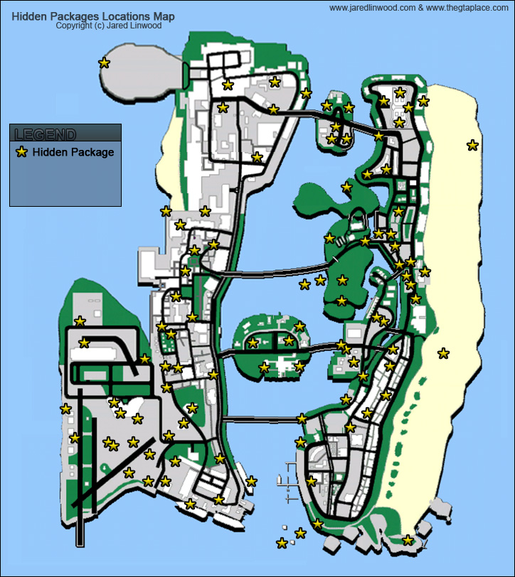Vice City Map The GTA Place   Vice City Maps